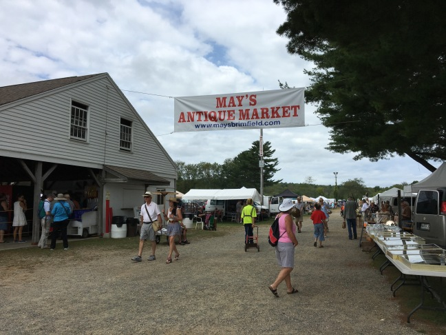 The entrance to the May's show, part of Brimfield