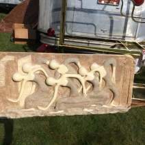 Very large bas-relief of dancers at Brimfield