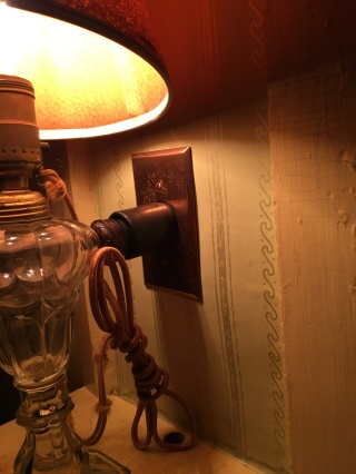 Lamp at Wayside: Home of Authors, Concord, MA