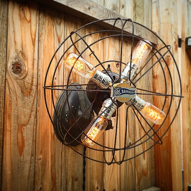 Raphael Creations vintage fan lamp