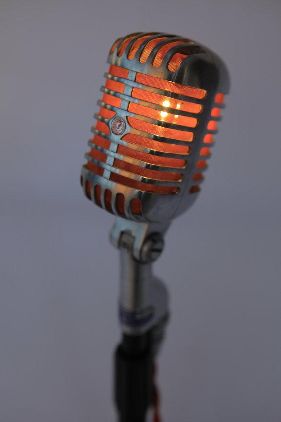 Raphael Creations vintage Shure 55 Mic Lamp