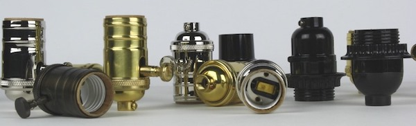 Electrical lamp sockets from Sundial Wire