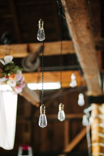 Light fixtures set and handing for the wedding