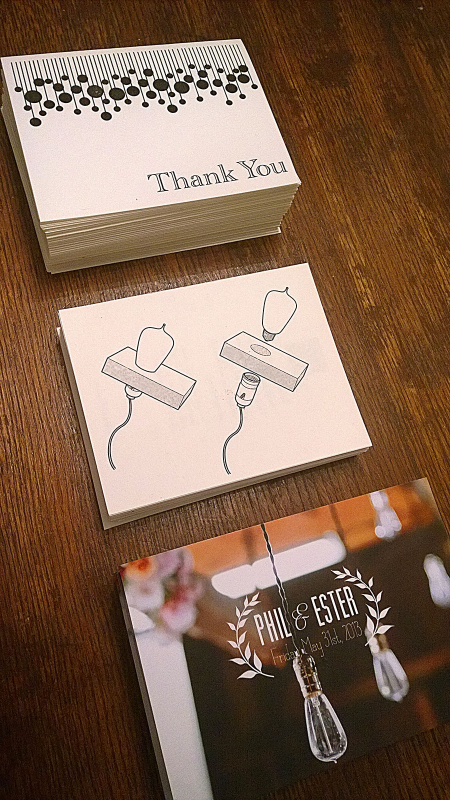 Thank you cards with homemade lights